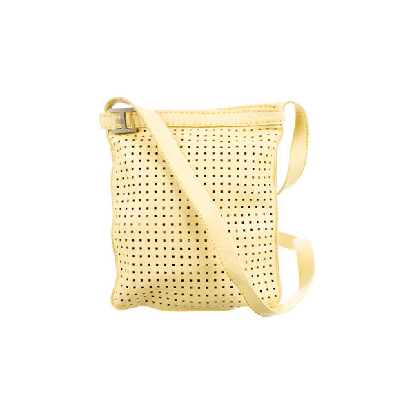Cheap Hermes Women Yellow PERFORATED CROSSBODY BAG Online