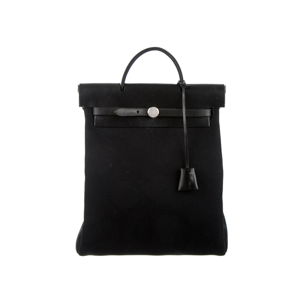 Cheap Hermes Women Black HERBAG BACKPACK Online