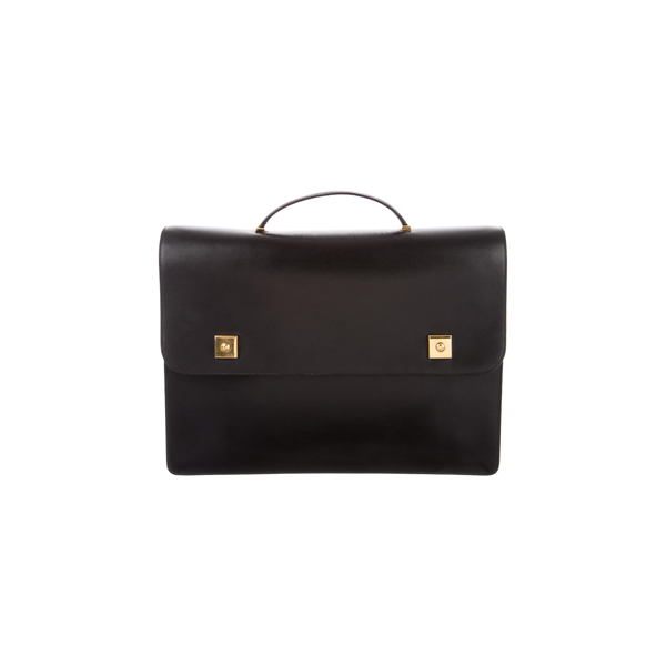 Cheap Hermes Women Black BOX PIANO BRIEFCASE Online