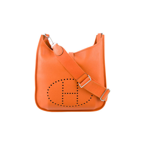 Cheap Hermes Women Orange CLEMENCE EVELYNE III GM Online