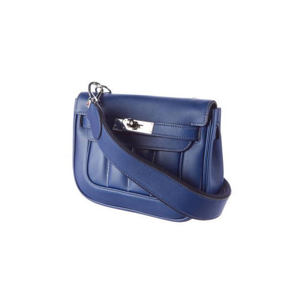 Cheap Hermes Women Blue MINI BERLINE CROSSBODY BAG Online