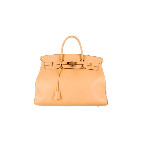 Cheap Hermes Women Natural Sable CLEMENCE BIRKIN 40 Online