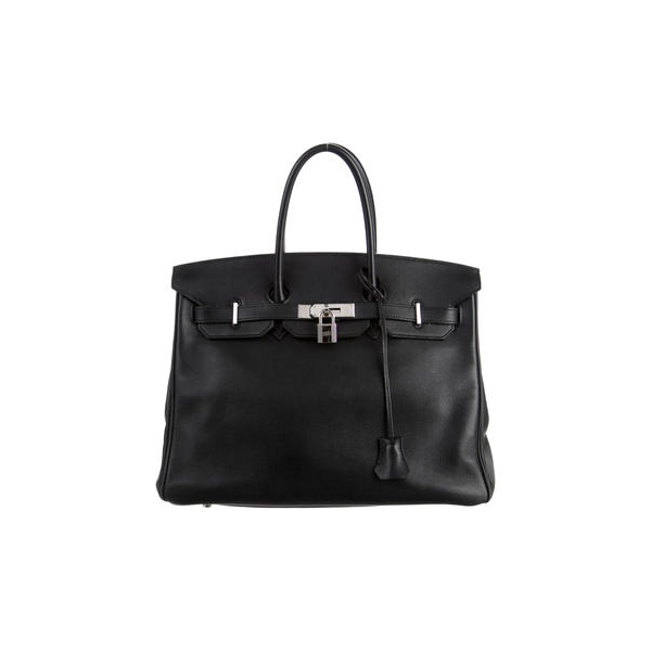 Cheap Hermes Women Black SWIFT BIRKIN 35 Online
