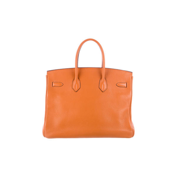 Cheap Hermes Women Orange d'H CLEMENCE BIRKIN 35 Online