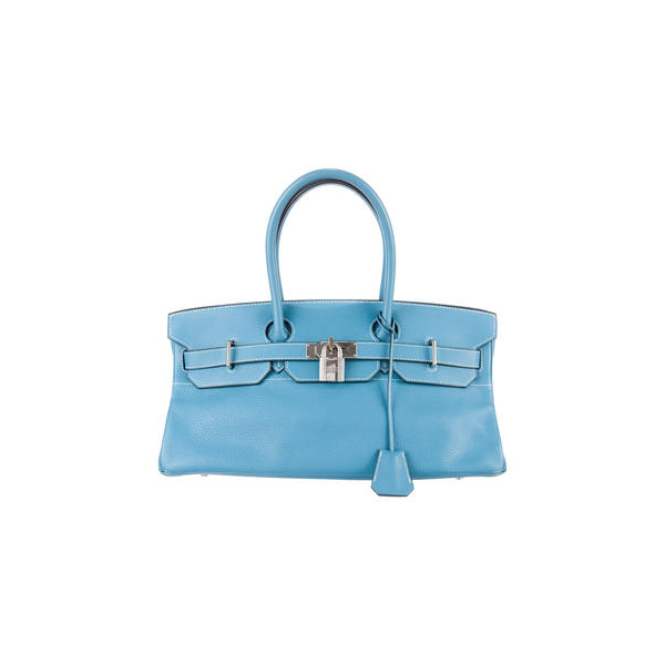 Cheap Hermes Women Blue CLEMENCE JPG SHOULDER BIRKIN Online