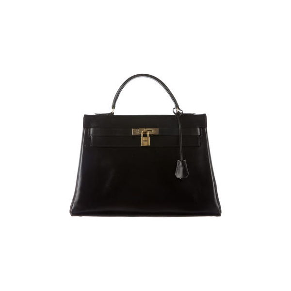 Cheap Hermes Women Black BOX KELLY RETOURNE 32 Online