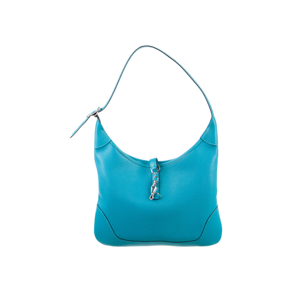 Cheap Hermes Women Blue CHEVRE COROMANDEL TRIM I 31 Online