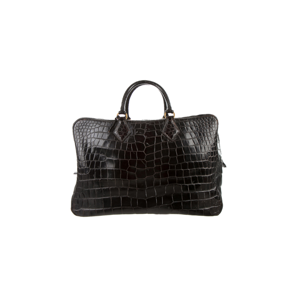 Cheap Hermes Women Black CROCODILE PLUME 43 Online
