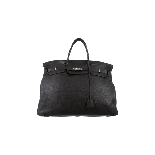 Cheap Hermes Women  Black HAC TRAVEL BIRKIN 50 Online
