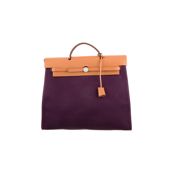 Cheap Hermes Women Purple HERBAG ZIP 39 Online