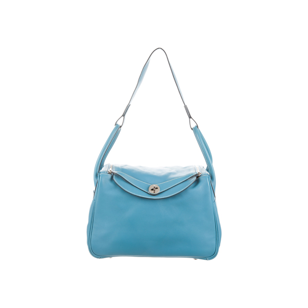 Cheap Hermes Women Blue SWIFT LINDY 30 Online
