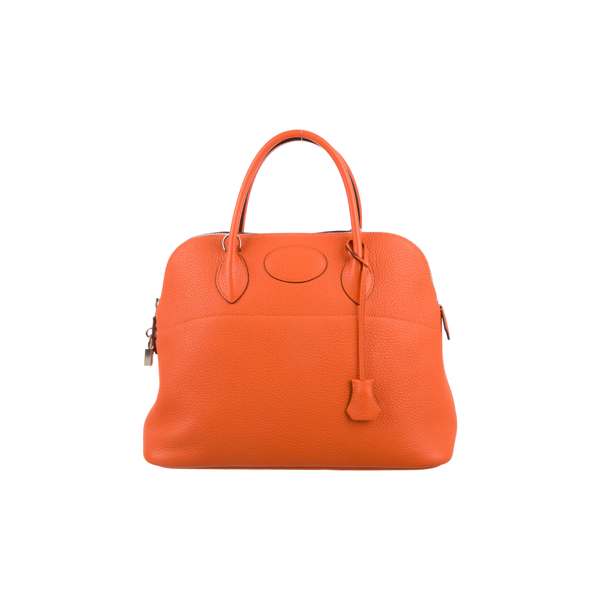 Cheap Hermes Women Orange CLEMENCE BOLIDE 35 Online