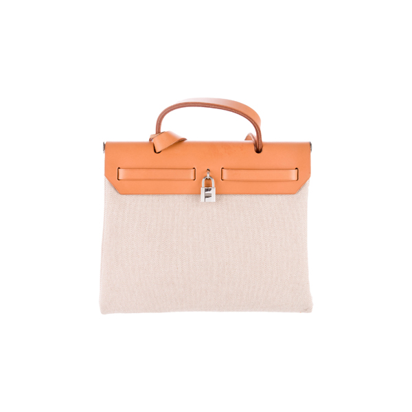 Cheap Hermes Women Brown and White and Neutrals HERBAG PM Online