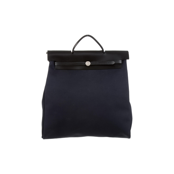 Cheap Hermes Women Blue HERBAG GM Online