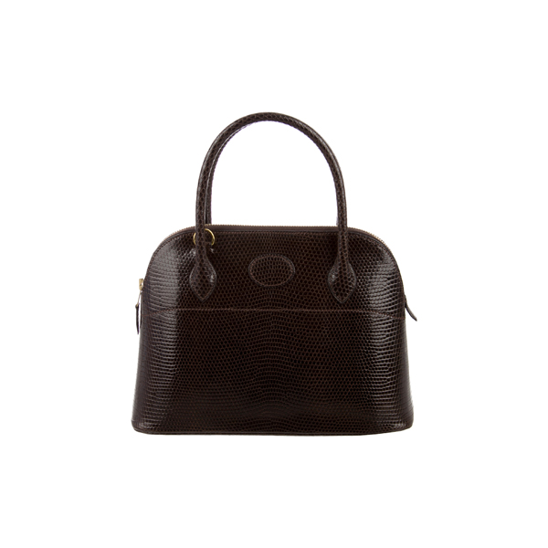 Cheap Hermes Women Brown LIZARD BOLIDE 27 Online