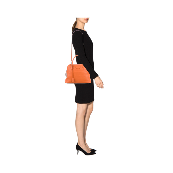 Cheap Hermes Women Orange CLEMENCE BOLIDE 31 Online