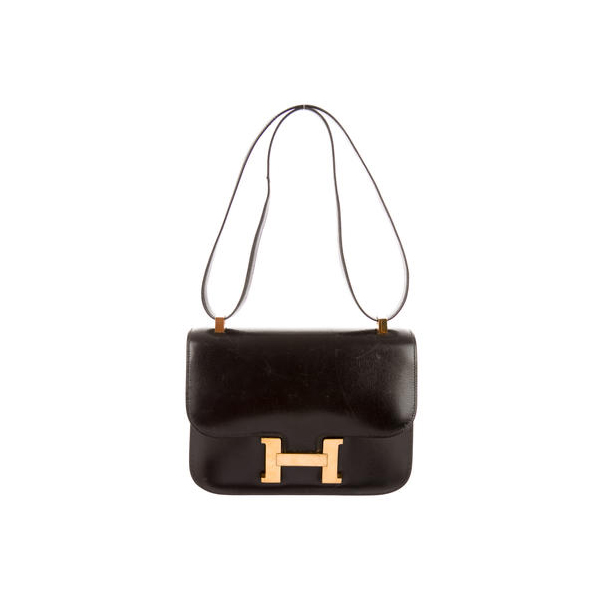 Cheap Hermes Women Black BOX CONSTANCE 23 Online