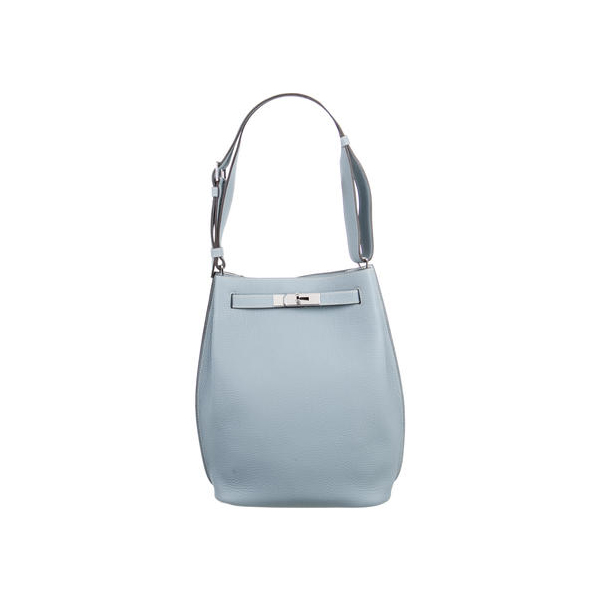 Cheap Hermes Women Blue CLEMENCE SO KELLY 22 Online