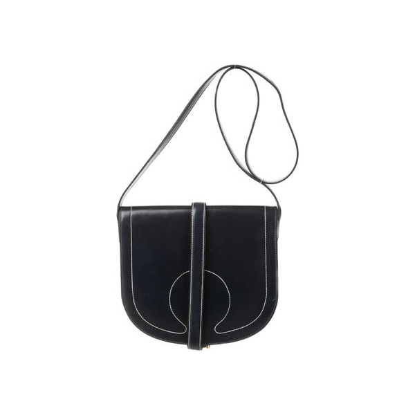 Cheap Hermes Women Blue VINTAGE SADDLE BAG Online