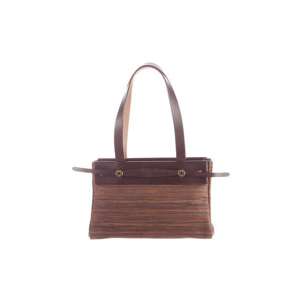 Cheap Hermes Women Brown and tan VIBRATO HERBAG CABAS PM Online