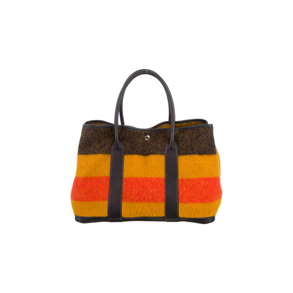 Cheap Hermes Women Yellow and orange GARDEN PARTY MM Online