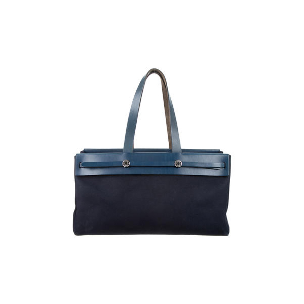 Cheap Hermes Women Navy blue HERBAG CABAS TOTE Online