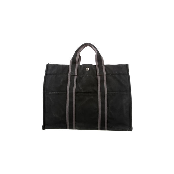 Cheap Hermes Women Black and grey FOURRE TOUT MM Online