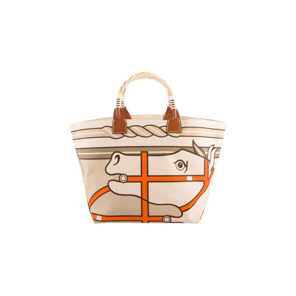 Cheap Hermes Women Tan and multicolor STEEPLE TOTE Online