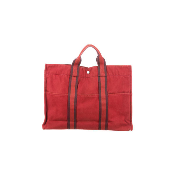 Cheap Hermes Women Cranberry and burgundy FOURRE TOUT MM Online