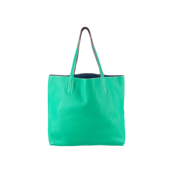 Cheap Hermes Women Green CLEMENCE DOUBLE SENS TOTE 36 Online