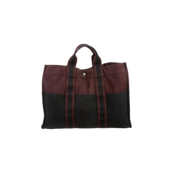 Cheap Hermes Women Burgundy and black FOURRE TOUT MM Online