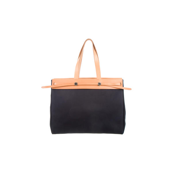Cheap Hermes Women Navy HERBAG CABAS GM Online