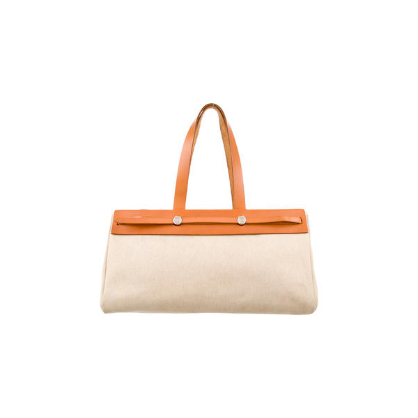 Cheap Hermes Women Neutrals HERBAG CABAS MM Online